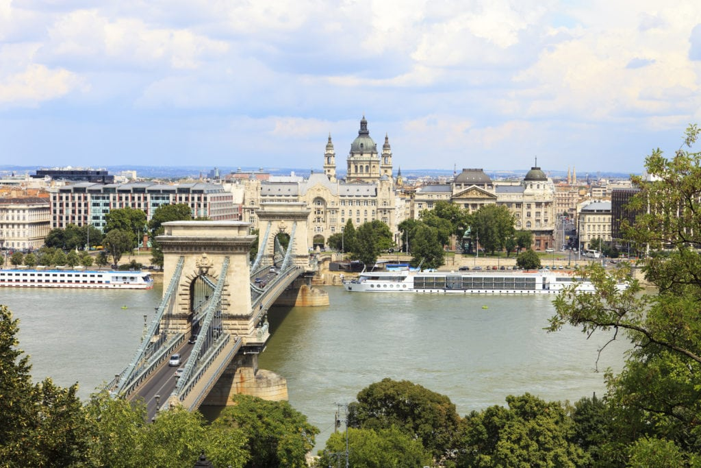 budapest chain bridge view
