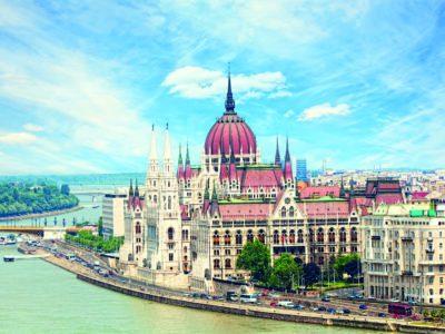 Aussicht über das Parlament in Budapest