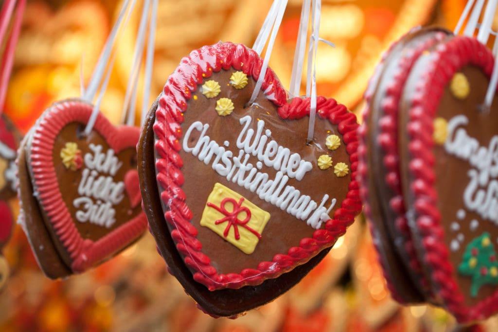 Lebkuchenherz vom Wiener Weihnachtsmarkt