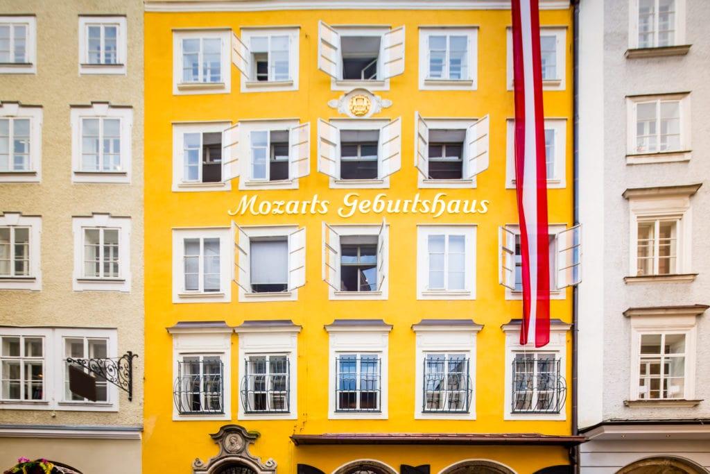 Wolfgang Amadeus Mozart's Geburtshaus in Salzburg, Austria