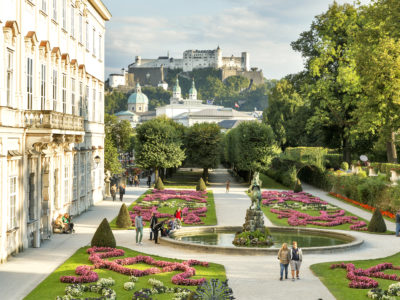 garden view at Mirabell Palace in Salzburg
