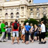 tour guide at famous sight in Vienna